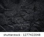black texture. rough structure. ... | Shutterstock . vector #1277422048