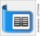 abstract icon of a book  vector ...