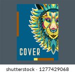 colorfully lion. lion logo.... | Shutterstock .eps vector #1277429068