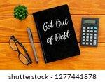 top view of eyeglasses... | Shutterstock . vector #1277441878