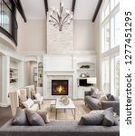 beautiful living room interior... | Shutterstock . vector #1277451295