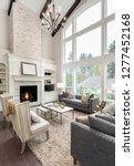 beautiful living room interior... | Shutterstock . vector #1277452168