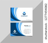 modern business card with logo... | Shutterstock .eps vector #1277454082