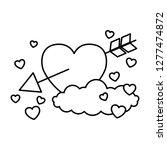 valentine day card   Shutterstock .eps vector #1277474872
