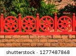 dharma wheel buddhist symbol in ... | Shutterstock . vector #1277487868