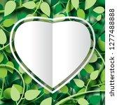 paper cut of tropical green... | Shutterstock .eps vector #1277488888