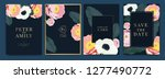 wedding invitation  floral...   Shutterstock .eps vector #1277490772