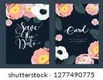 wedding invitation  floral... | Shutterstock .eps vector #1277490775