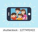 happy family selfie photo on... | Shutterstock .eps vector #1277492422