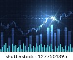 business candle stick graph... | Shutterstock .eps vector #1277504395