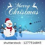 vector illustration of merry... | Shutterstock .eps vector #1277516845