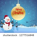 merry christmas happy new year... | Shutterstock .eps vector #1277516848