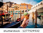 Hand Man Holds An Italian Ice...