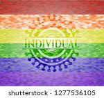 individual on mosaic background ... | Shutterstock .eps vector #1277536105