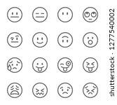 emoji avatar face vector line... | Shutterstock .eps vector #1277540002