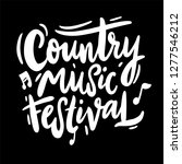 country music festival hand... | Shutterstock .eps vector #1277546212