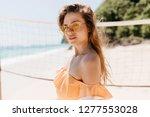 serious white female model in... | Shutterstock . vector #1277553028