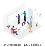 people work in a team and... | Shutterstock .eps vector #1277555518