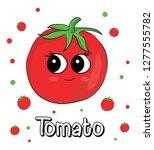 sweet  cute tomato cartoon... | Shutterstock .eps vector #1277555782