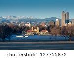downtown denver winter skyline... | Shutterstock . vector #127755872