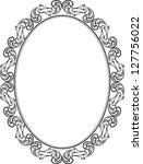 silhouette of frame oval | Shutterstock .eps vector #127756022
