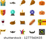 color flat icon set  ... | Shutterstock .eps vector #1277560435