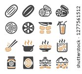 lotus root icon set vector and... | Shutterstock .eps vector #1277561512