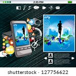 smartphone with application | Shutterstock .eps vector #127756622