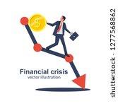 financial crisis concept. coin... | Shutterstock .eps vector #1277568862