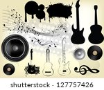 abstract grunge music... | Shutterstock .eps vector #127757426