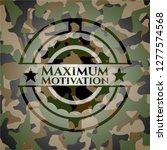 maximum motivation on... | Shutterstock .eps vector #1277574568