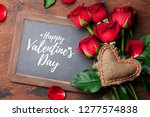 valentine's day greeting card...   Shutterstock . vector #1277574838