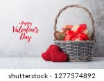 valentine's day greeting card... | Shutterstock . vector #1277574892