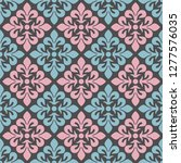 seamless pattern with floral... | Shutterstock .eps vector #1277576035