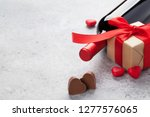 valentines day greeting card...   Shutterstock . vector #1277576065