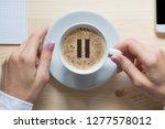 Coffee Break. Female Hands...