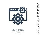 settings icon vector on white... | Shutterstock .eps vector #1277589805