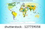 countries and capitals of the... | Shutterstock .eps vector #127759058