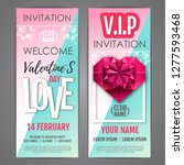 happy valentine s day disco... | Shutterstock .eps vector #1277593468