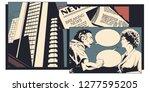 stock illustration. man and...   Shutterstock .eps vector #1277595205