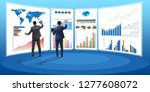concept of business charts and... | Shutterstock . vector #1277608072