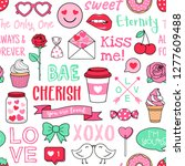 cute decorative elements and... | Shutterstock .eps vector #1277609488
