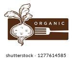 organic food reddish with... | Shutterstock .eps vector #1277614585