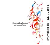 Colorful Music Background....