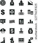 solid black vector icon set  ... | Shutterstock .eps vector #1277619325