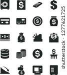 solid black vector icon set  ... | Shutterstock .eps vector #1277621725