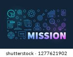 mission horizontal colorful... | Shutterstock .eps vector #1277621902