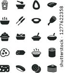 solid black vector icon set  ... | Shutterstock .eps vector #1277622358