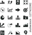 solid black vector icon set  ... | Shutterstock .eps vector #1277622382
