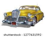 retro car isolated on white...   Shutterstock .eps vector #1277631592